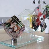 七夕禮物照片定制旋轉風車音樂盒
