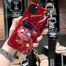 個性創意IPhone 11pro日韓手機套 卡通動漫蘋果11pro Max防摔手機殼 腕帶支架iphone 11保護套