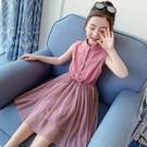 女童洋裝 女童連身裙夏裝兒童裝夏款裙子小女孩洋氣夏天公主裙-Ballet朵朵