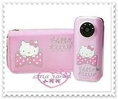 ♥小花花日本精品♥ Hello Kitty 行動電池 行動電源 趴姿 蝴蝶結 5200安培 附收納包 21078309