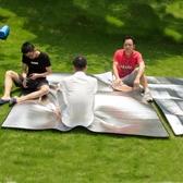 防潮墊戶外野餐墊單人雙人帳篷睡墊鋁膜3人-4人加厚露營沙灘地墊 英雄聯盟MBS