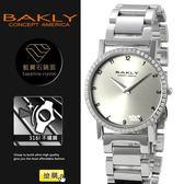 【完全計時】手錶館│BAKLY 極簡約鋼帶腕錶晶鑽(數字款) BAS6112-5ST大/銀 瑞士機芯/水晶鏡面