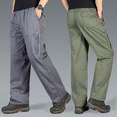 春夏季男士寬鬆大碼工裝褲加肥加大碼