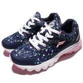 【六折特賣】Fila 慢跑鞋 J314R 深藍 粉紅 白底 運動鞋 女鞋 夏日配色 【PUMP306】 5J314R355