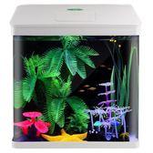 佳璐魚缸水族箱小型玻璃魚缸迷你生態桌面中型創意客廳方形金魚缸