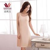 【南紡購物中心】【華歌爾】涼爽衣素色系列M-LL細帶連身裙款(膚)