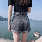 高腰牛仔短褲女夏季韓版顯瘦寬鬆 大碼卷邊夏天外穿【桃可可服飾】