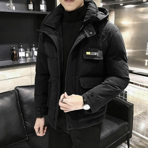 男士棉衣冬季外套加厚短款衣服韓版潮流羽絨棉服潮牌工裝冬裝棉襖 源治良品