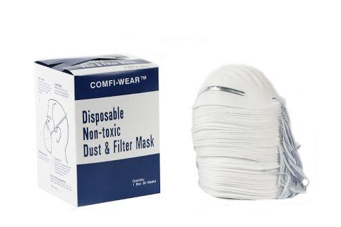Disposable Non-toxic Dust & Filter Mask 50入/盒裝