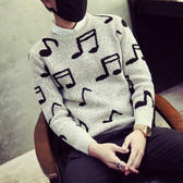 毛衣圓領針織衫-純棉質百搭加厚格子新款男上衣72k7【巴黎精品】