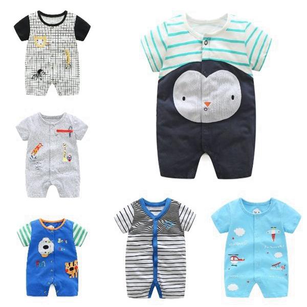 短袖連身衣 卡通動物 春夏兔裝 寶寶童裝 棉質嬰兒服 CAR22359 好娃娃