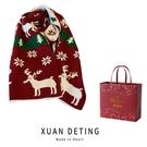 圣誕麋鹿圍巾韓版百搭學生針織毛線長款加厚少女圍脖套 快速出貨