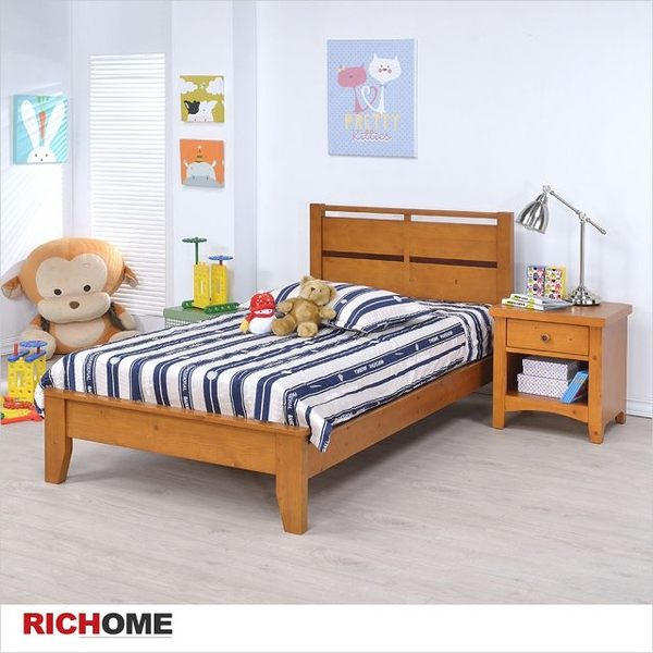 【RICHOME】專人到府組裝 舒適單人床《艾得單人床》