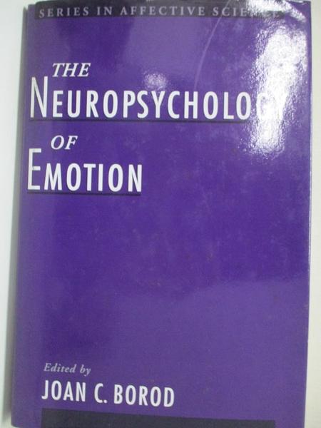 【書寶二手書T3/大學理工醫_KFM】The Neuropsychology of Emotion_Borod, Joan (EDT)