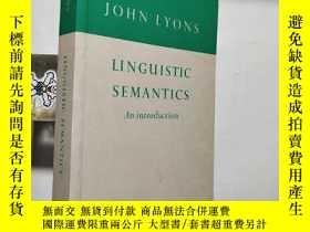 二手書博民逛書店【英文原版】Linguistic罕見Semantics: An