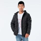 BigTrain 無縫貼格超輕量羽绒外套-男-黑-B4016888