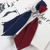 韓版職業英倫風領花女復古鑽石領帶