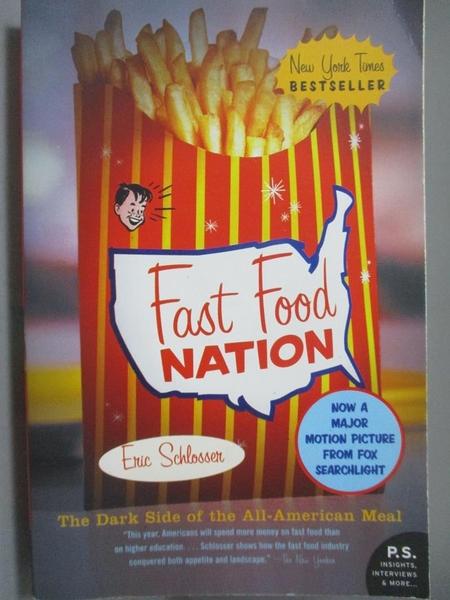 【書寶二手書T5/原文小說_OGC】Fast Food Nation-The Dark Side of the All-