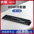 HDMI分配器1進10出 9出分屏器 1分10拼接屏3X3專用版高清4K 3C優購HM