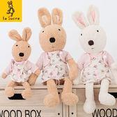娃娃屋樂園~Le Sucre法國兔砂糖兔(粉紅碎花洋裝款)45cm450元另有30cm60cm