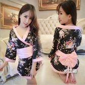 日系和服情趣浴袍制服日本和服女夏睡裙性感內衣火辣透明極度誘惑日系三點(1件免運)