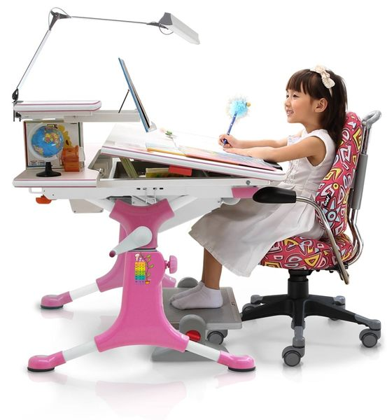 【Artso亞梭】魔豆學習桌-兒童書桌/成長書桌/機械式手搖調整桌高預防兒童近視與駝背
