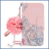 三星 Note10 Note10+ 手繪玫瑰 手機皮套 插卡 立體花朵 吊飾 掛件 保護套