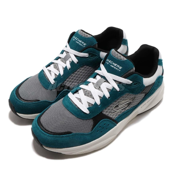 Skechers 老爹鞋 Meridian-Ostwall 藍綠色 灰黑 男鞋 運動鞋 【PUMP306】 52952TEAL