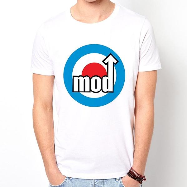 Mods Target短袖T恤-白色 摩德標靶英國復古搖滾設計插畫潮流樂團 390 gildan