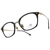 MA-JI MASATOMO 光學眼鏡 PMJ032 C04 (黑-金) 文藝 威靈頓 方框 鈦眼鏡 # 金橘眼鏡
