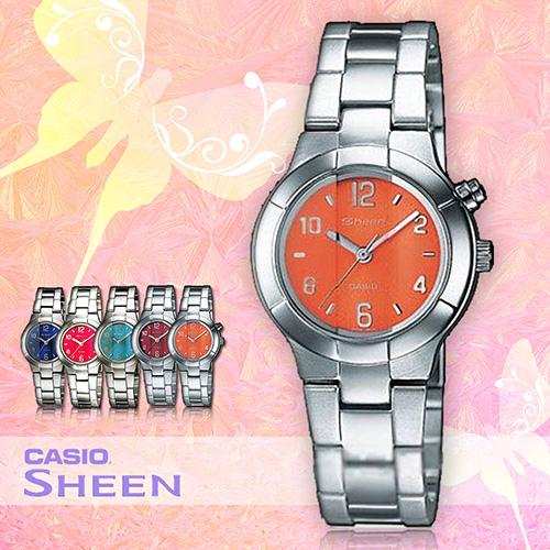 CASIO 卡西歐 手錶專賣店 SHN-2001D-5A 女錶 ☛冷光照明☚ 不銹鋼錶帶 亮橘  三折錶扣