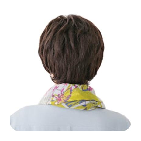 整頂假髮(真髮絲)-斜瀏海微捲短髮舒適女假髮2色73vc14【時尚巴黎】