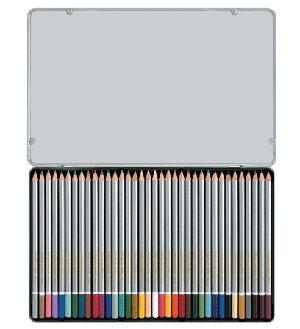 【奇奇文具】雄獅 SIMBALION C3600/8 塗頭色鉛筆 (36色/鐵盒)