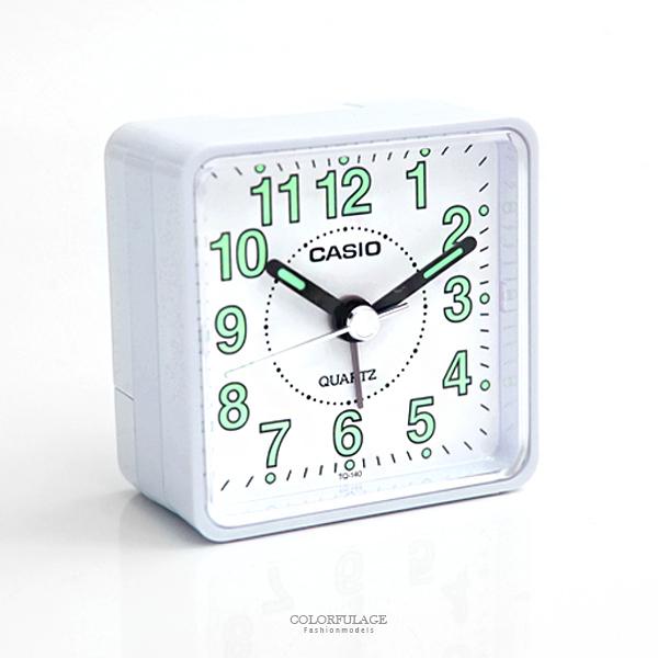 鬧鐘 CASIO白色迷你時尚座鐘 柒彩年代【NVC14】原廠公司貨