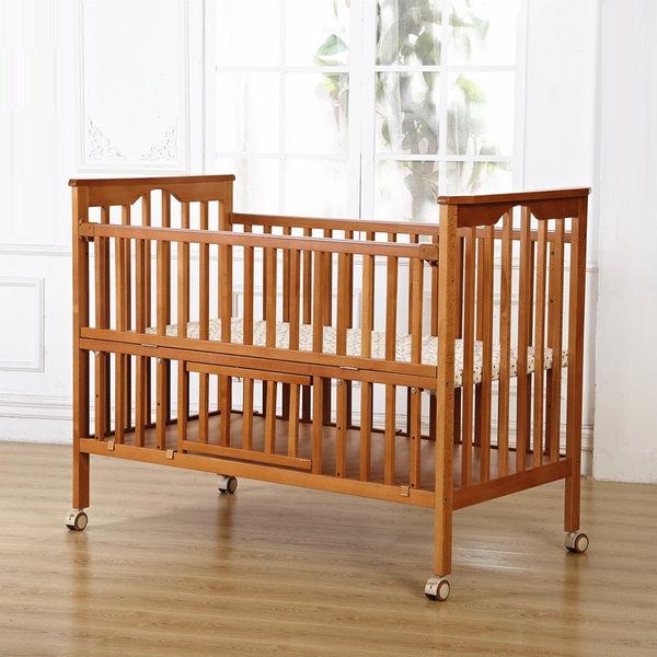 櫸木嬰兒床 加大嬰兒床   環保嬰兒床  可變書桌 附蚊帳(不含搖籃)