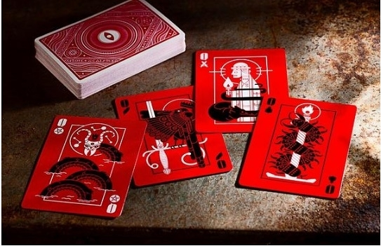 【USPCC撲克】Memento mori red 紅眼Playing Cards