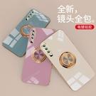 車載指環三星S21保護殼 電鍍Galaxy S21+保護套 簡約防摔三星S21 Ultra手機殼 SamSung S21手機套創意