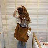 帆布包簡約女學生布袋文藝復古側背包【少女顏究院】