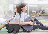 吉他 民謠吉他初學者學生新手入門實木吉他40寸男女樂器 晶彩生活