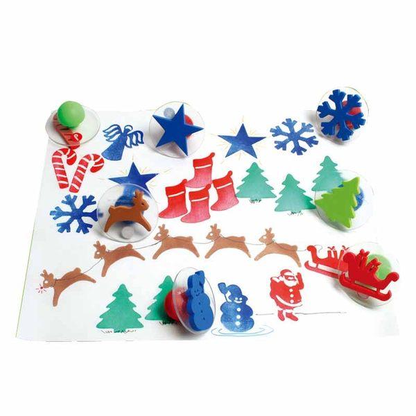 聖誕佳節大印章 兒童幼兒教具教學道具彩繪著色畫圖用具親子同樂綜合活動藝術與人文