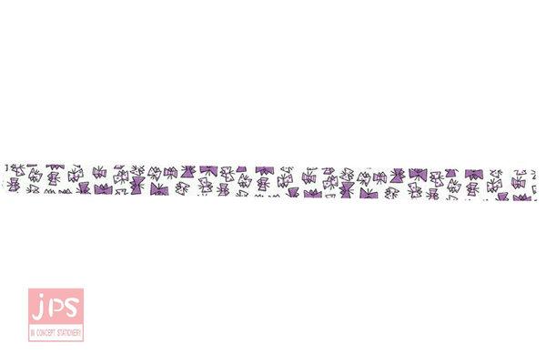 日本倉敷意匠和紙膠帶-飛舞蝴蝶(紫15mm)