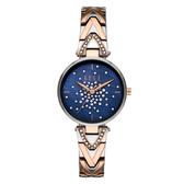 ELLE  巴黎之夜系列貝殼面腕錶-藍