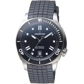 Anonimo NAUTILO Classic義大利海軍機械錶-暗夜黑(膠帶)  AM500909102R11