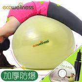 ecowellness加厚防爆26吋韻律球(贈打氣筒)65cm瑜珈球抗力球彼拉提斯球復健球體操球