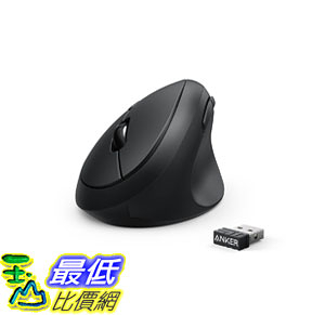 [107美國直購] 滑鼠 Anker Wireless Vertical Ergonomic Mouse with 800/1200/1600 DPI, 5 Buttons, 2.4G