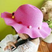 韓版兒童帽子女童草帽夏天涼帽遮陽帽太陽帽
