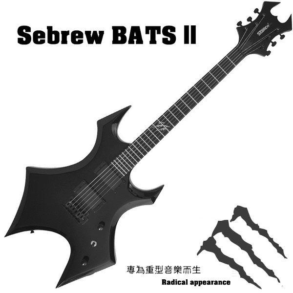 【奇歌】Sebrew希伯萊,Bats異形電吉他,雙雙封閉拾音器+懸浮顫音,24品小搖座+全套配備