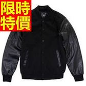 棒球外套男夾克-棉質保暖新款隨意嘻哈美式風休閒典型2色59h74【巴黎精品】