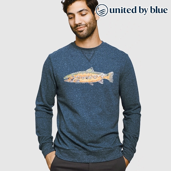 United by Blue 男起球圓領長袖上衣 101-092 Scale New Heights Pullover / 城市綠洲 (有機棉、環保、長袖T)
