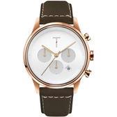 【台南 時代鐘錶 TYLOR】自由探索精神 風格多變三眼計時腕錶 TLAC004 皮帶 43mm